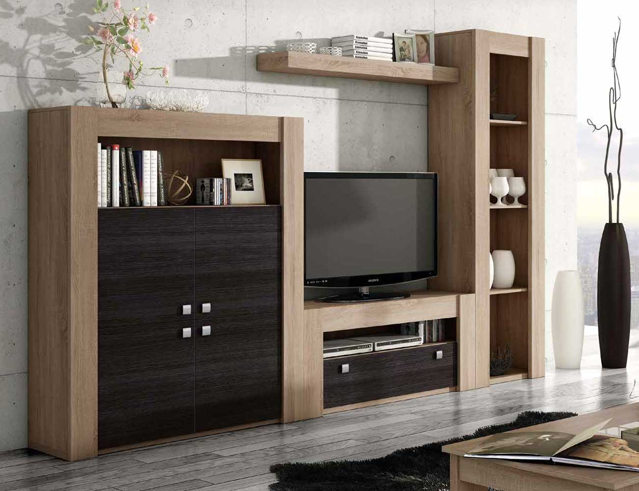 Mueble de sal n modular en cambrian con blanco factory for Mueble modular blanco
