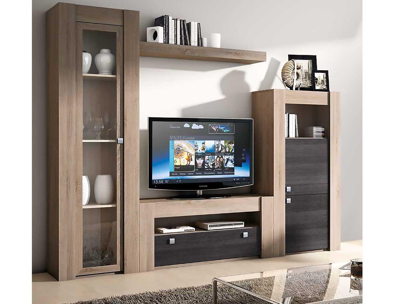 Mueble de sal n modular moderno en ceniza cambrian for Mueble moderno salon