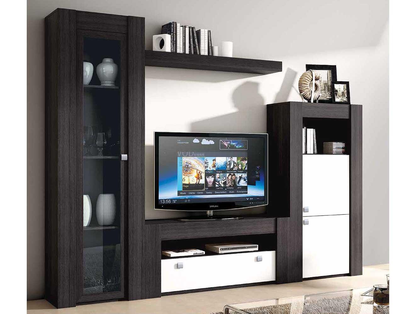 Mueble de sal n modular moderno en ceniza cambrian - Mueble salon modular ...