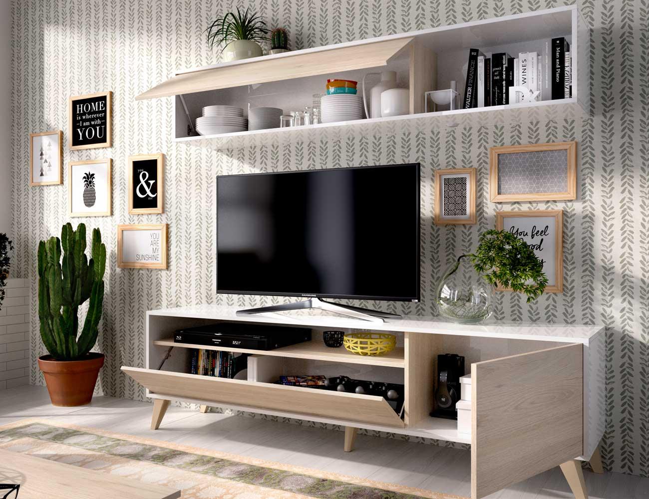 Mueble salon moderno nordico detalle