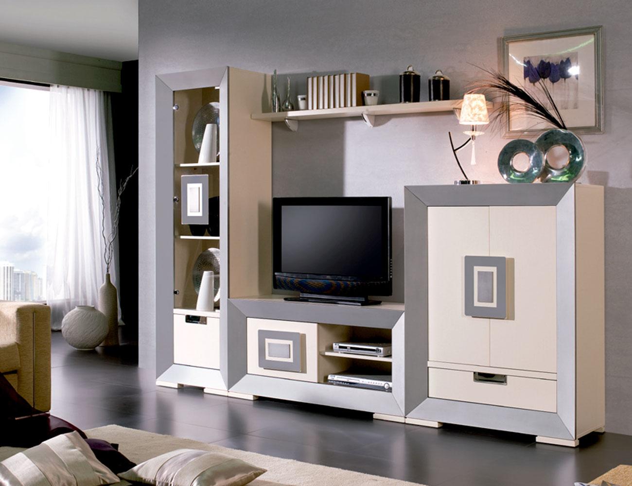 Mueble salon neoclasico color 504 503 tirador acero