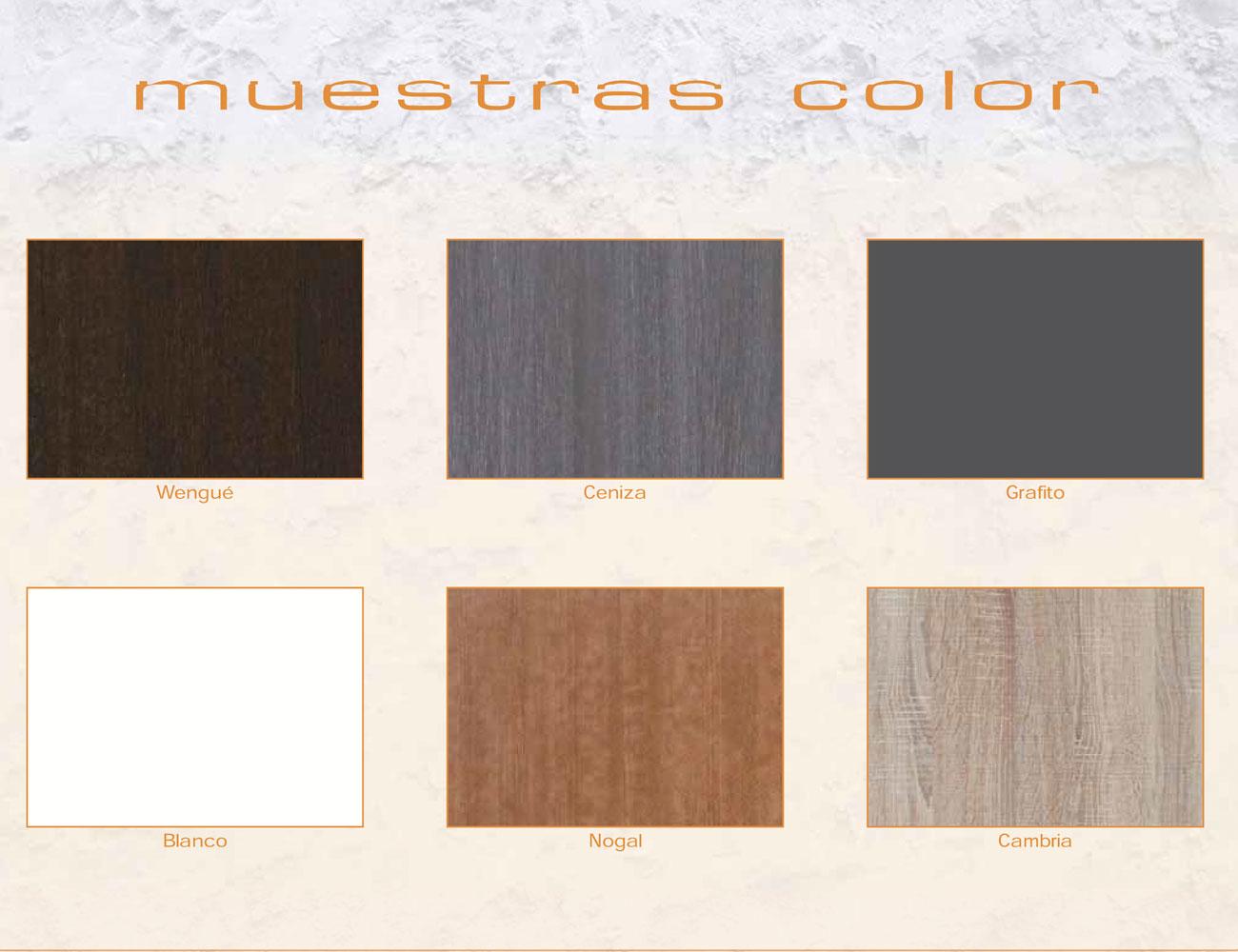 Muestras color muebles expo2