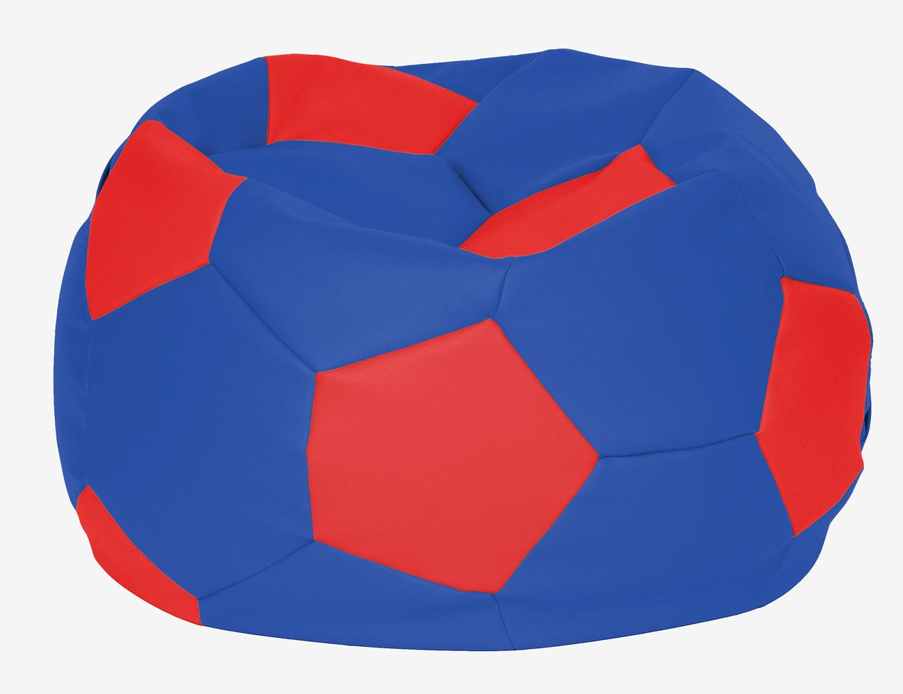 Puff pelota futbol azul rojo