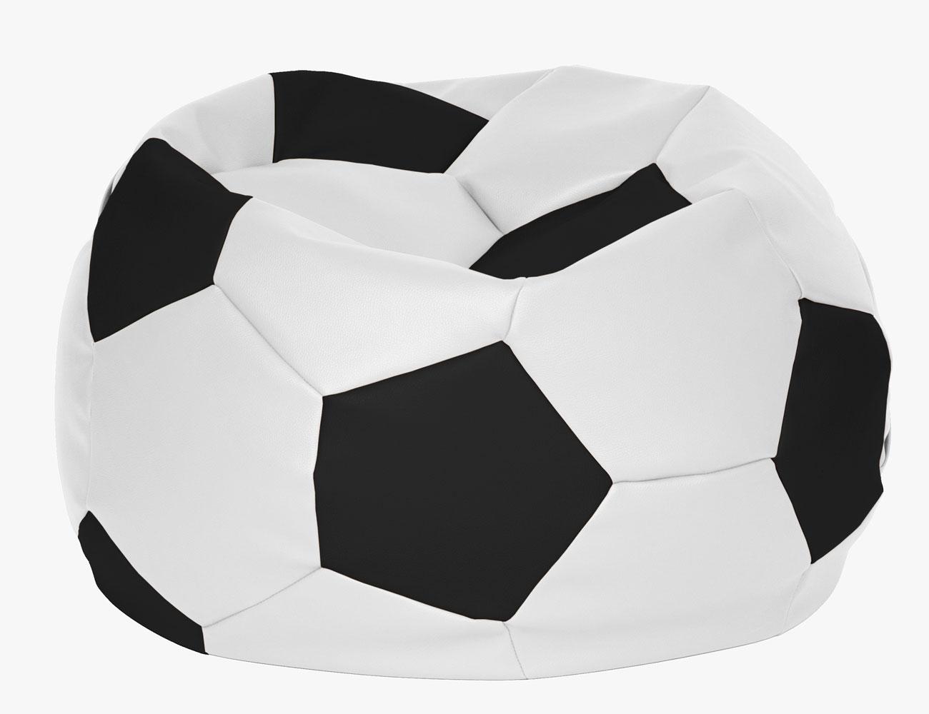 Puff pelota futbol blanco negro