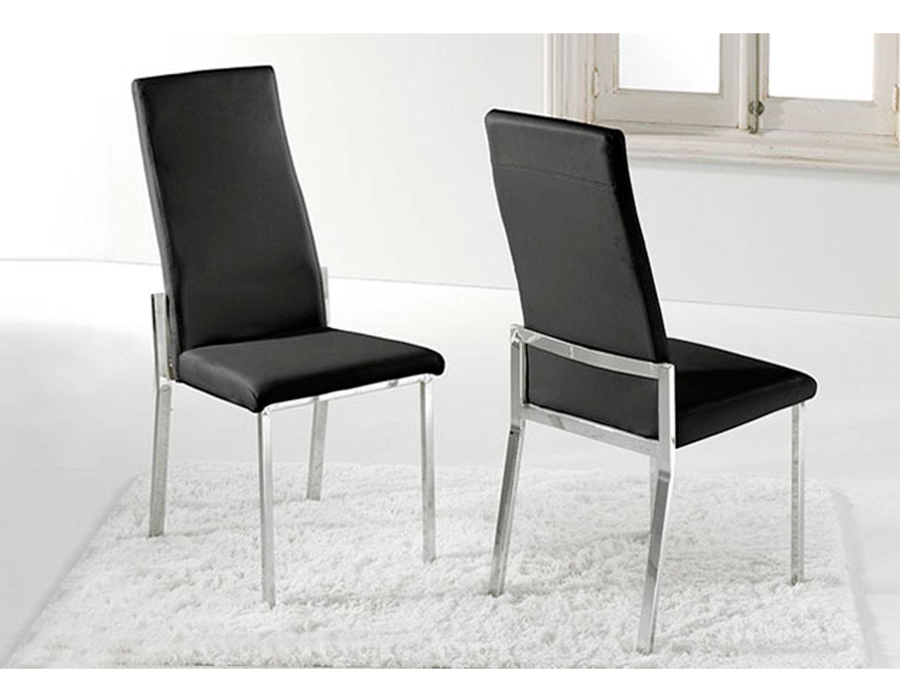 Pack de sillas comedor tapizada en polipiel color chocolate factory del mueble utrera - Sillas comedor polipiel ...