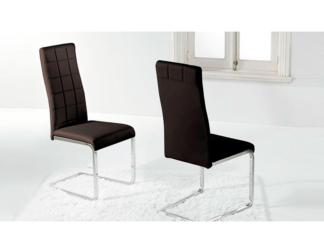 Pack de sillas polipiel con sistema amortiguaci n en color blanco factory del mueble utrera - Sillas comedor polipiel ...