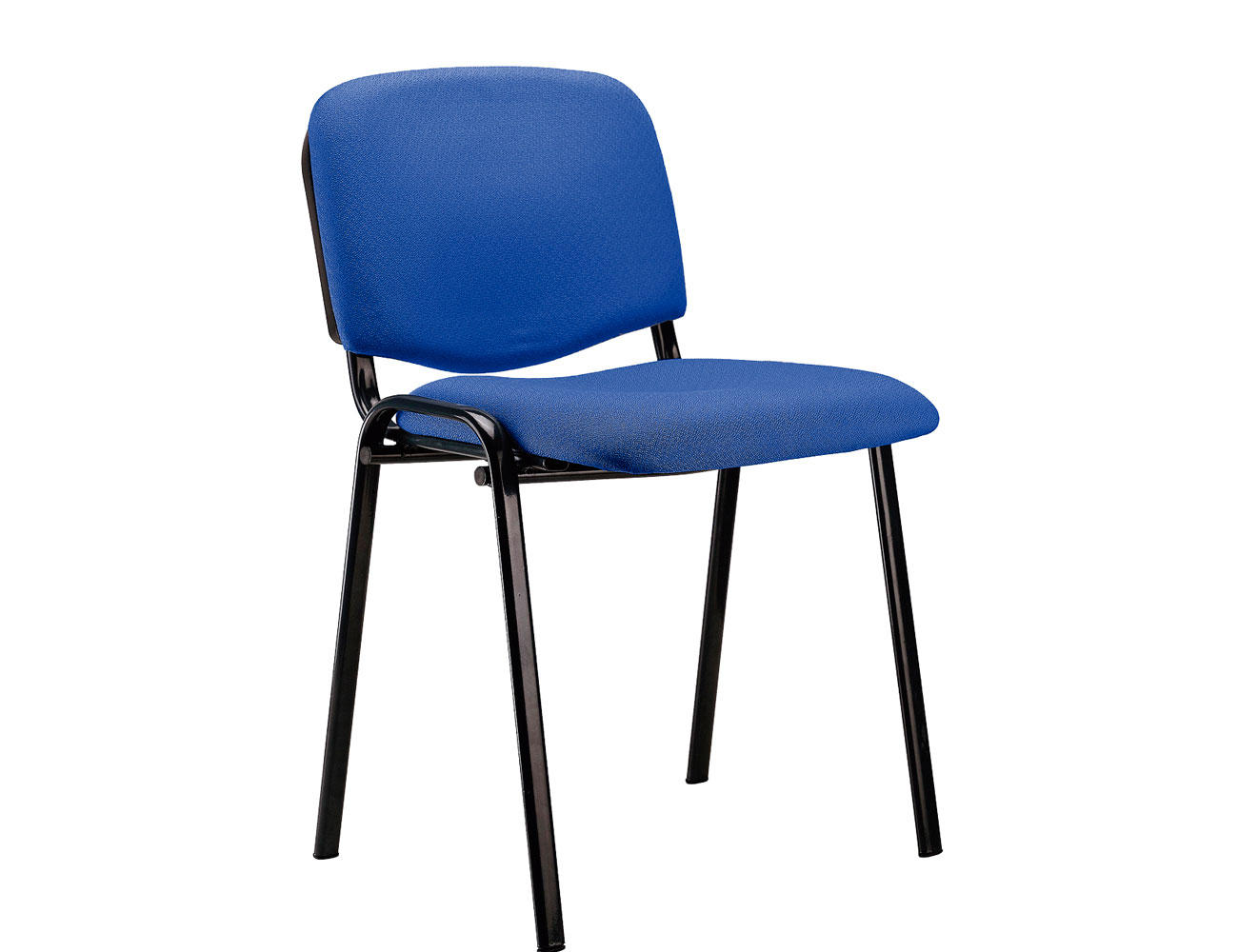 Silla confidente apilable azul