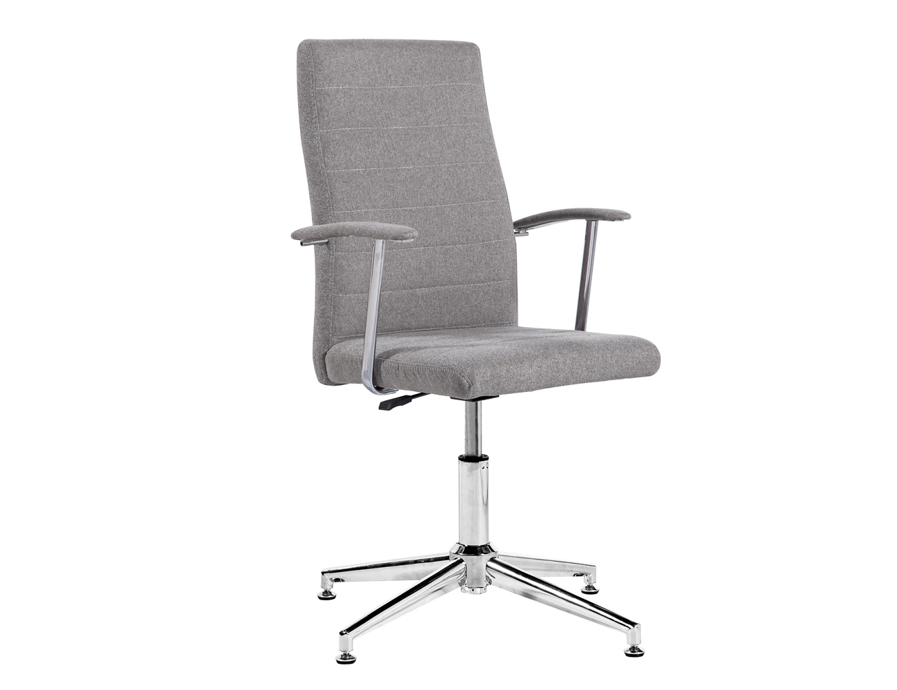 Silla oficina despecho elevable altura apoya brazos gris ceniza