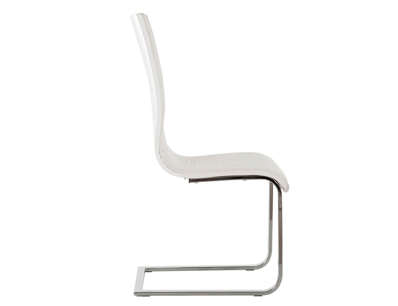 Silla polipiel rebote blanco brillo 5