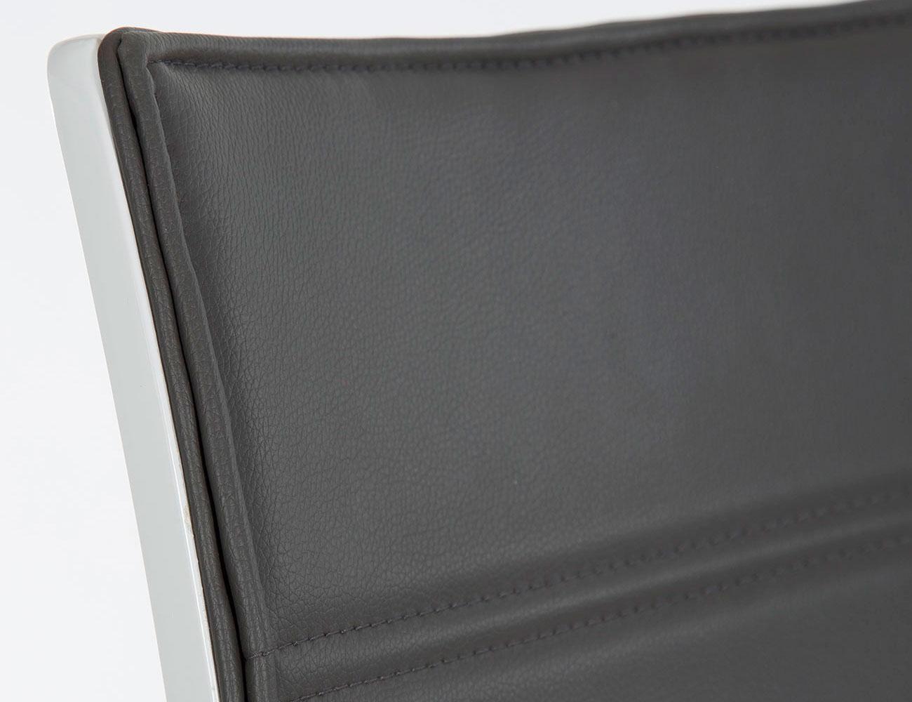 Silla polipiel rebote blanco brillo gris 2