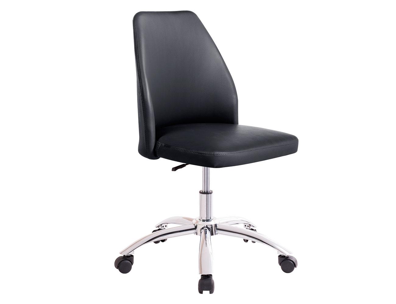 Sillon oficina despacho regulable altura polipiel negro