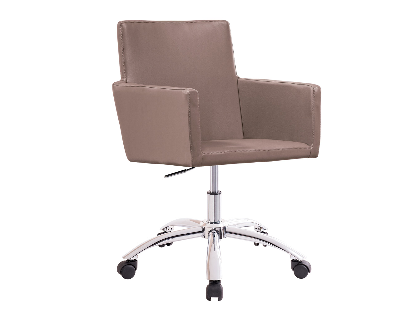 Sillon oficina despacho regulable altura ruedas polipiel vison
