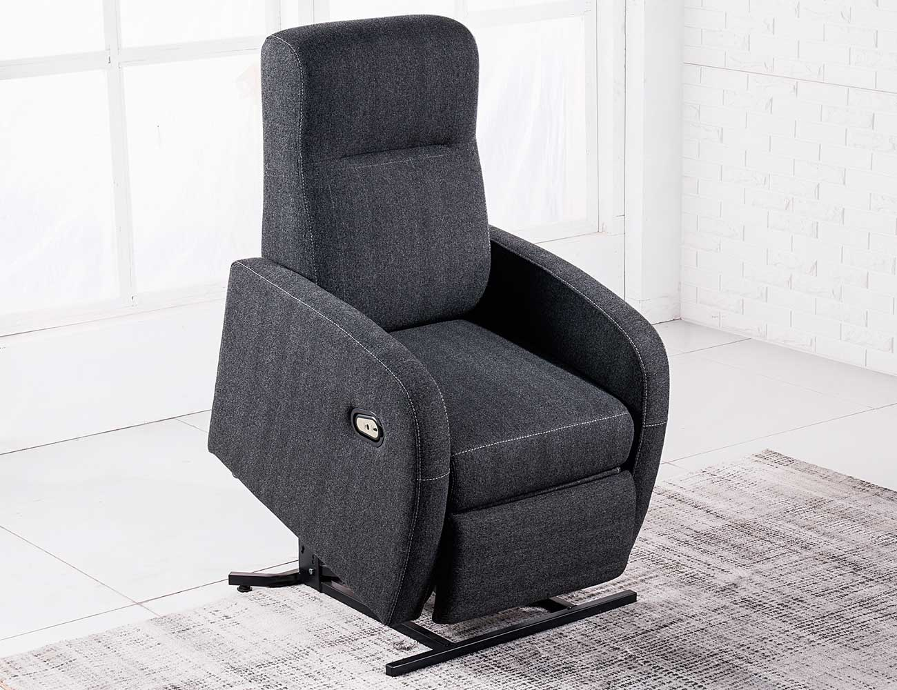 Sillon relax levanta personas power lift gris marengo 2