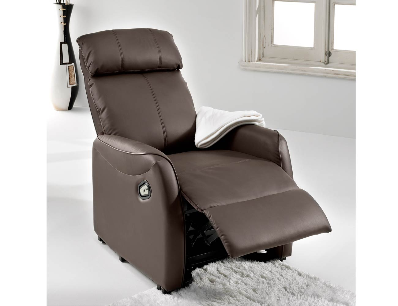 Sillon relax levanta personas power lift simil piel choco 2