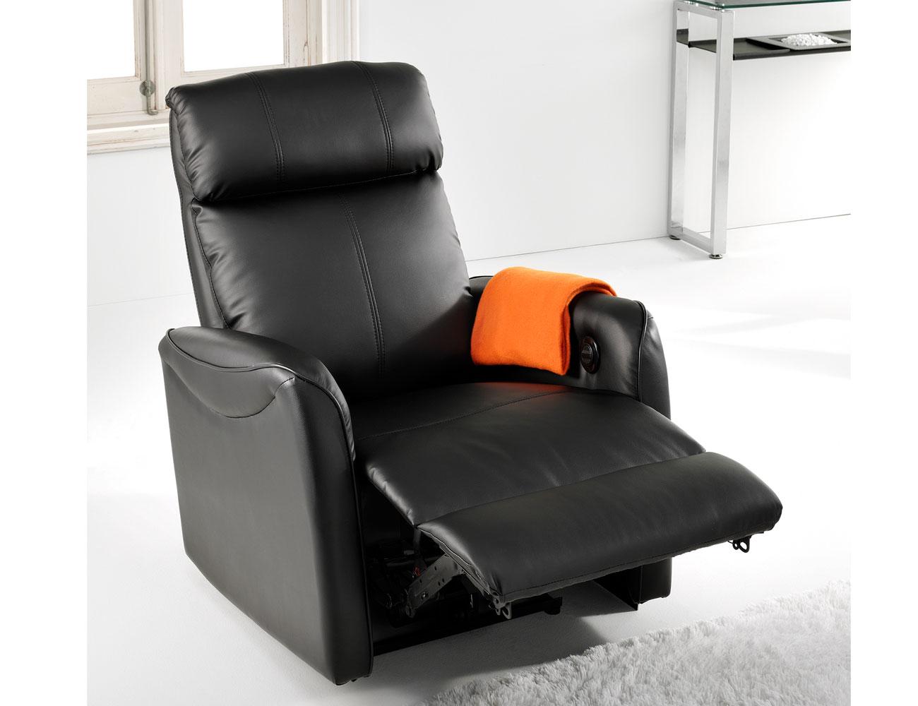 Sillon relax motor simil piel 2