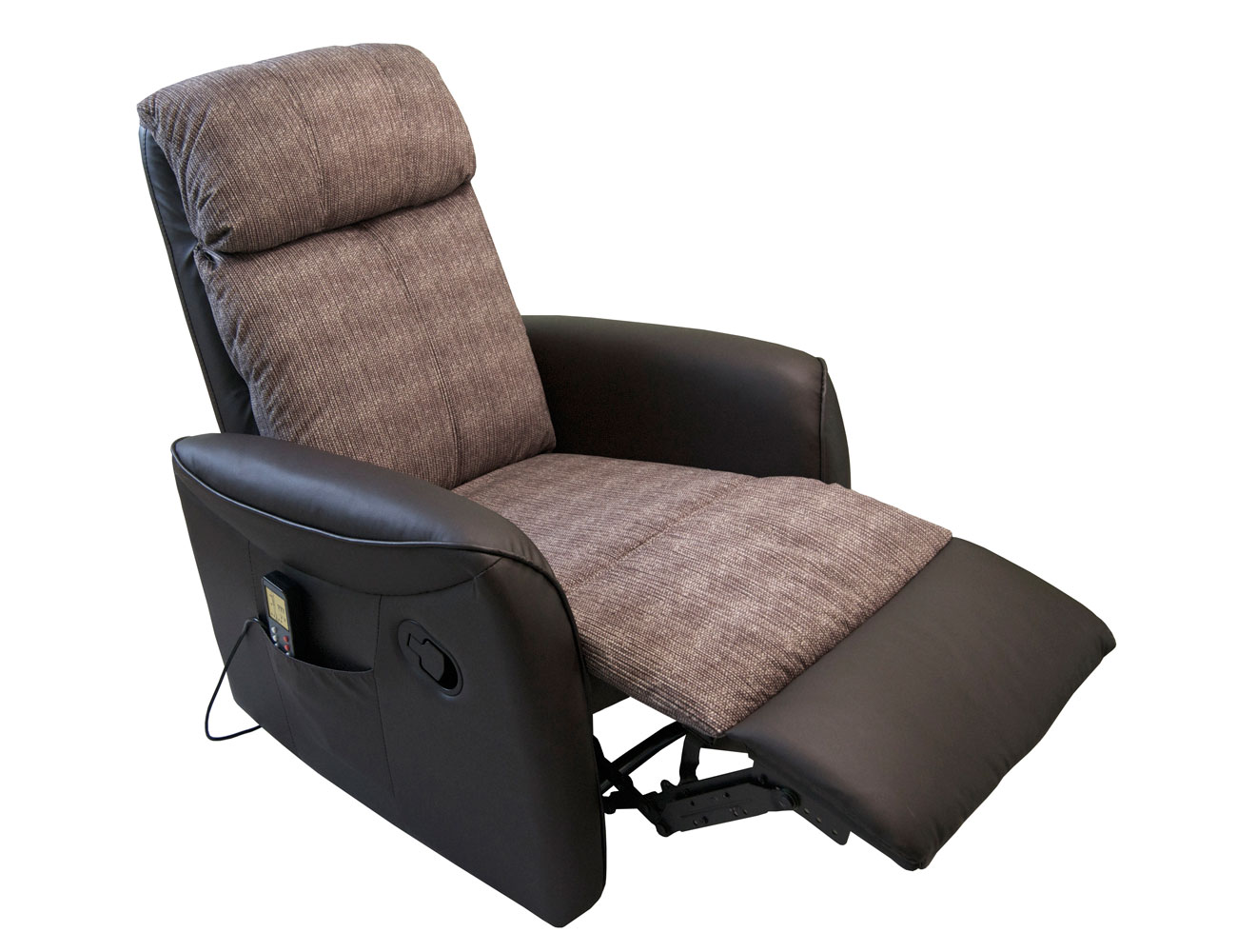 Sillon relax palanca simil piel chocolate rustic 2