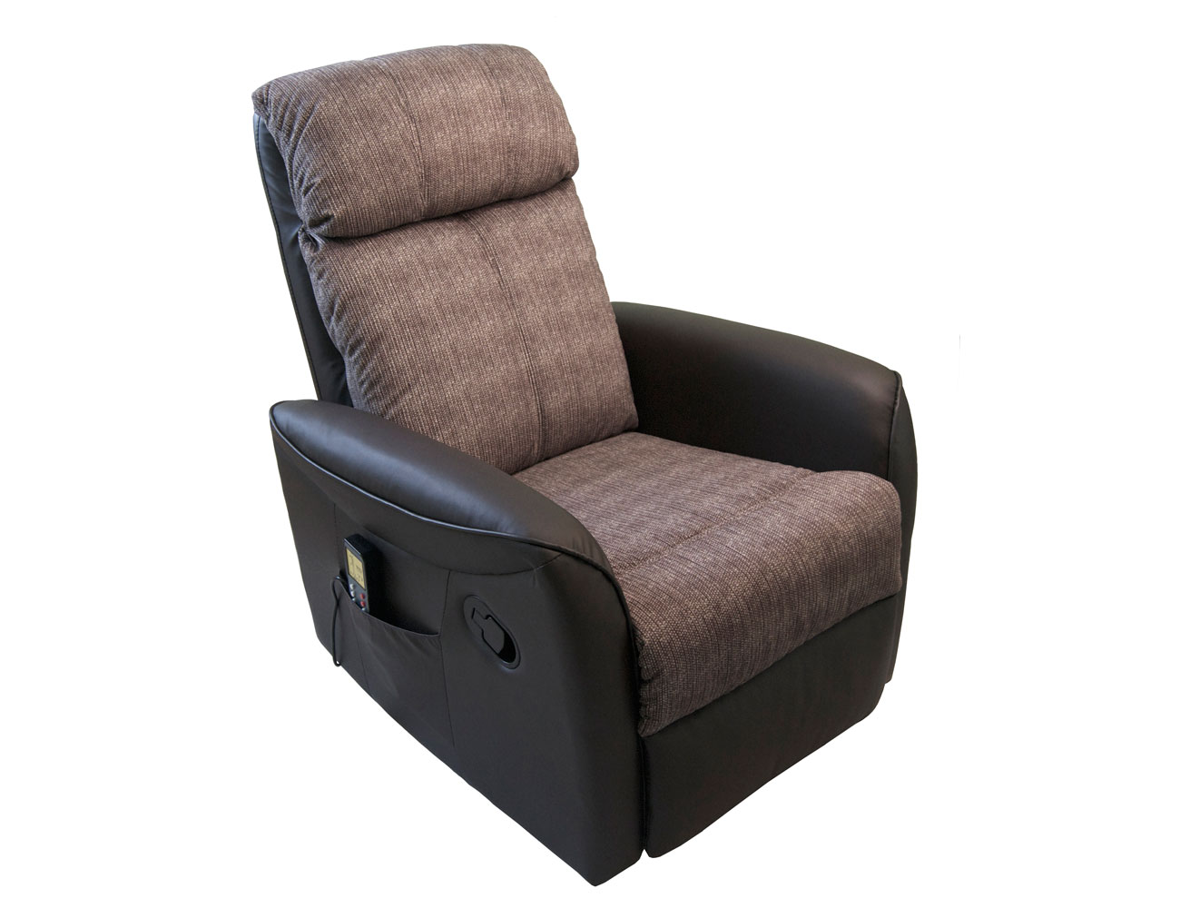 Sillon relax palanca simil piel chocolate rustic