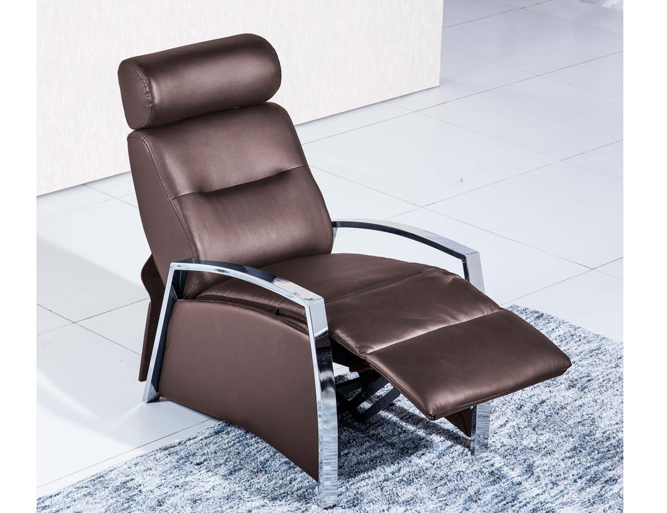 Sillon relax simil piel chocolate 2