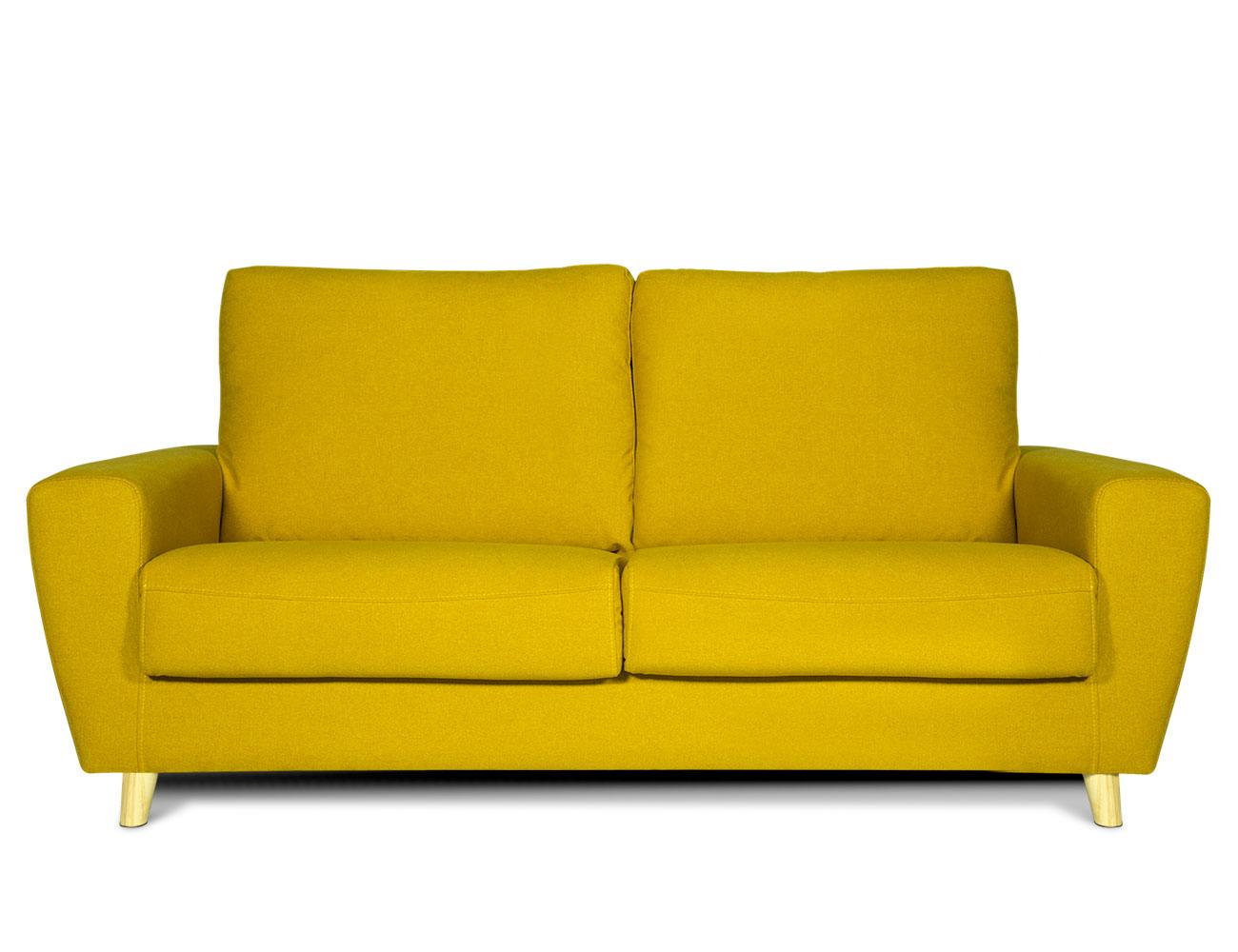Sofa 3 plazas moderno amarillo