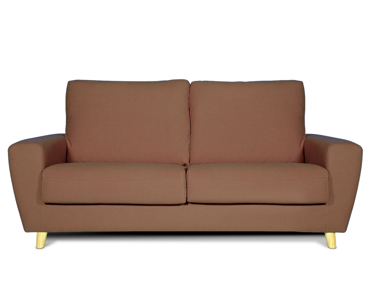 Sofa 3 plazas moderno chocolate
