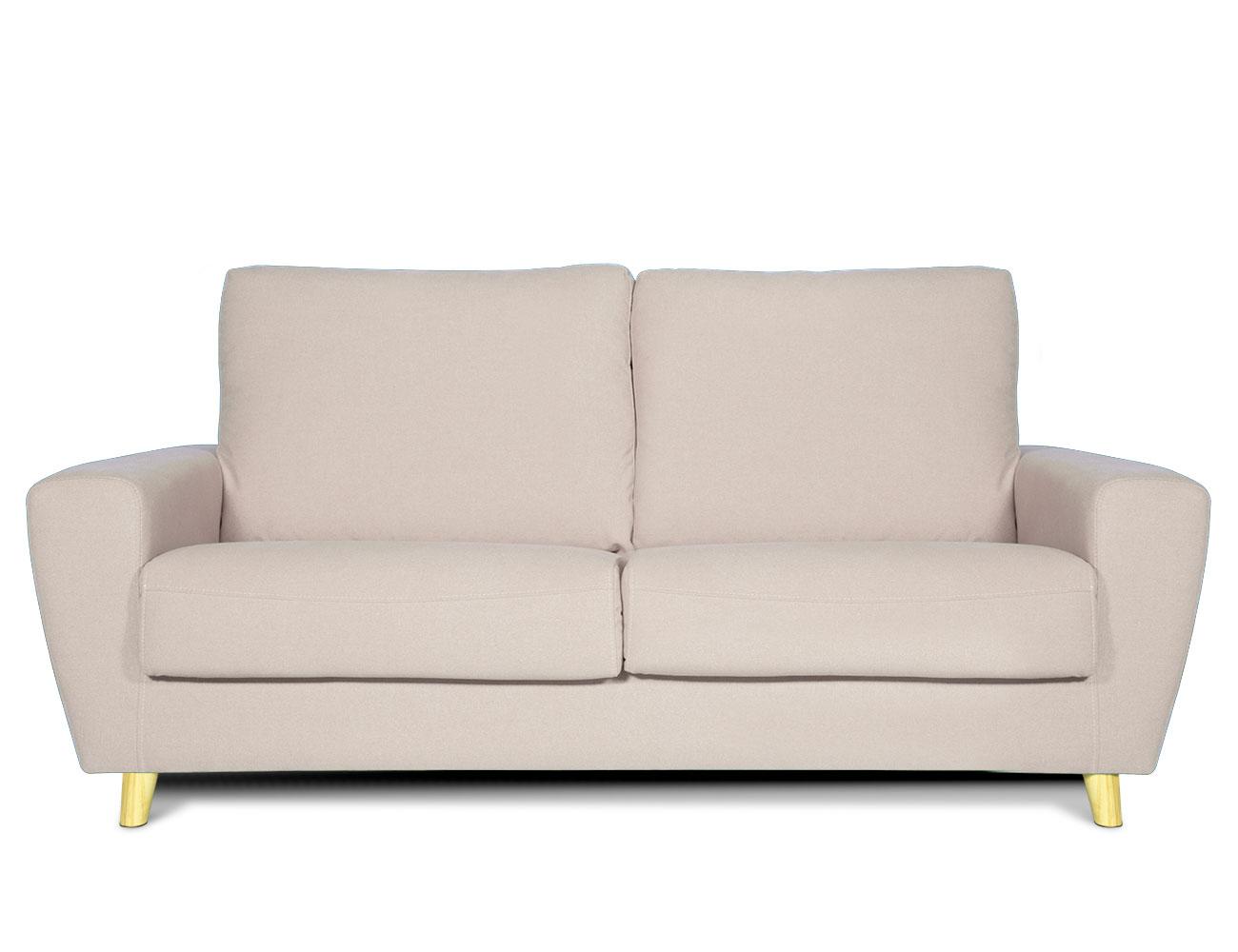 Sofa 3 plazas moderno crema