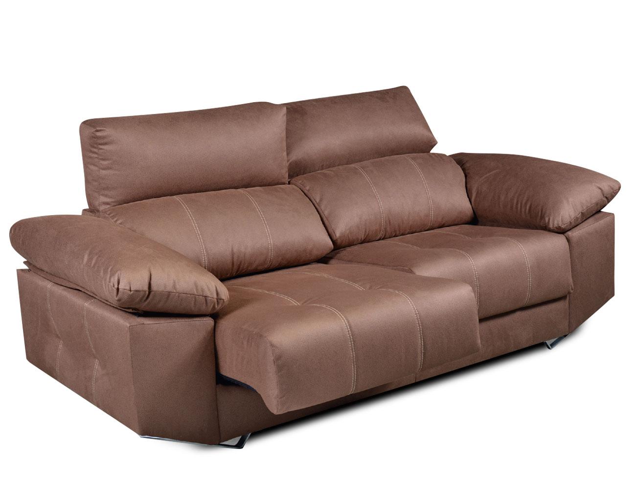 Sofa 3 plazas moderno tejido anti manchas