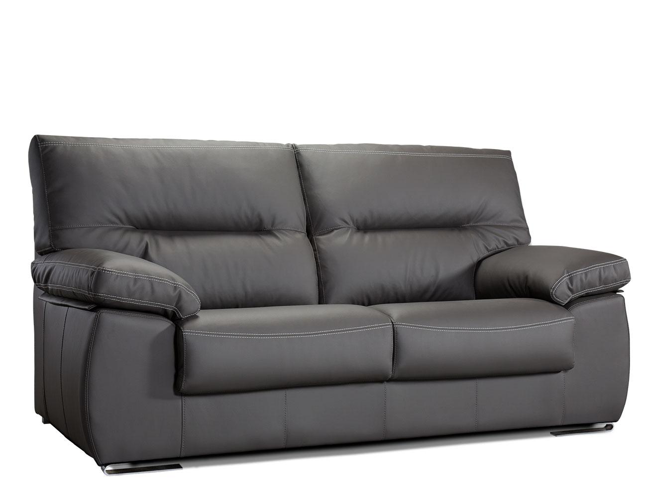 Sofa de 3 plazas tapizado en polipiel de alto confort for Reparar sofa polipiel