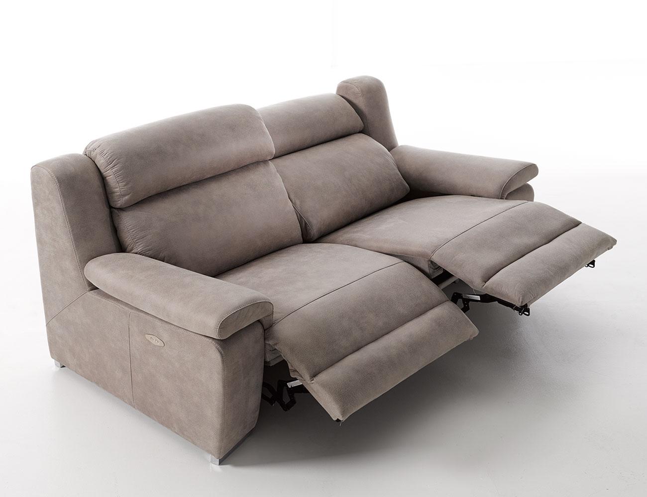 Sofa 3 plazas relax electrico motorizado detalle1