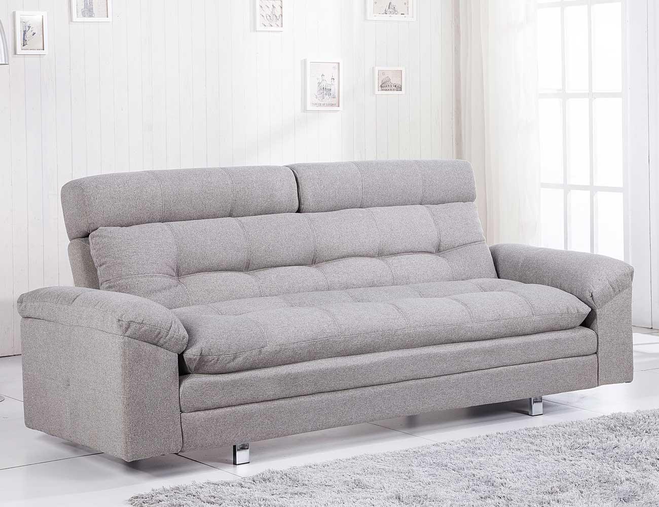 Sofa cama chaiselongue elegance ceniza