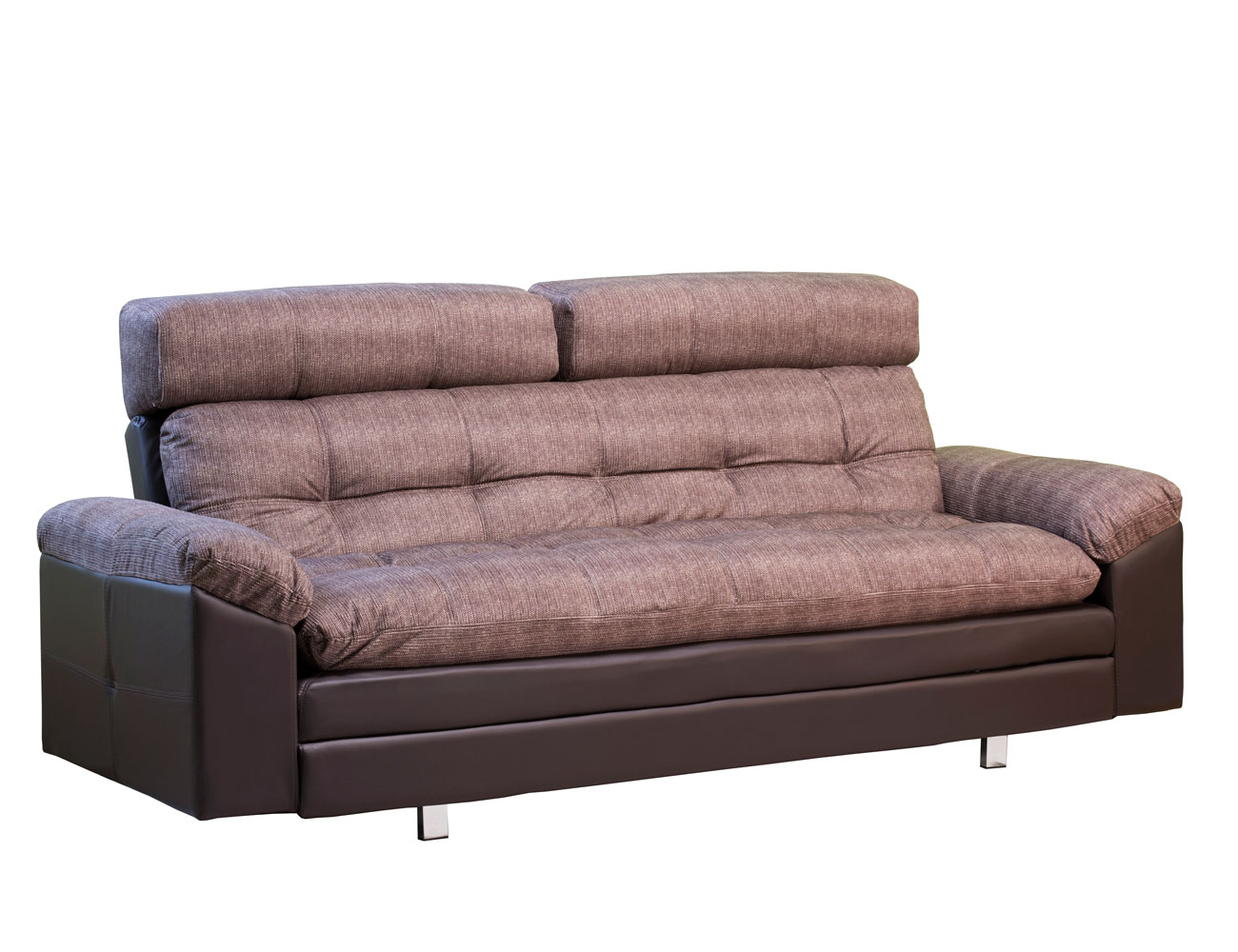 Sofa cama chaiselongue elegance choco rustika