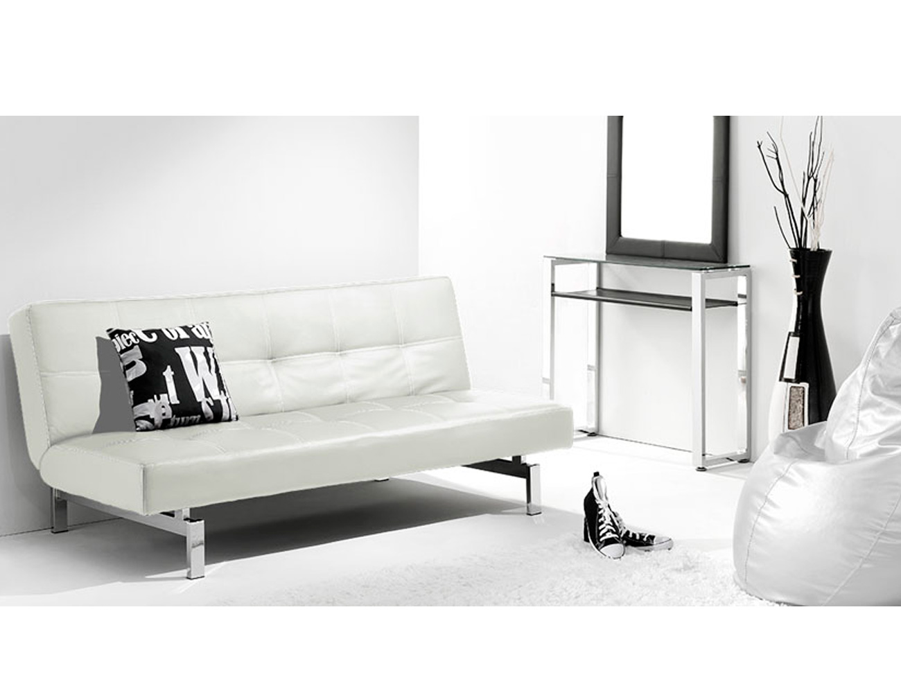 Sofa cama click clak blanco