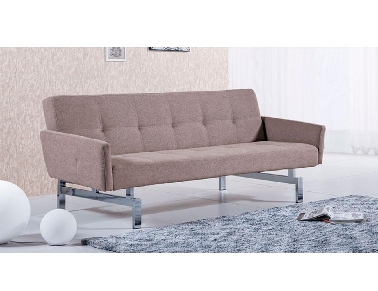 Sofa cama con brazos elegance moka