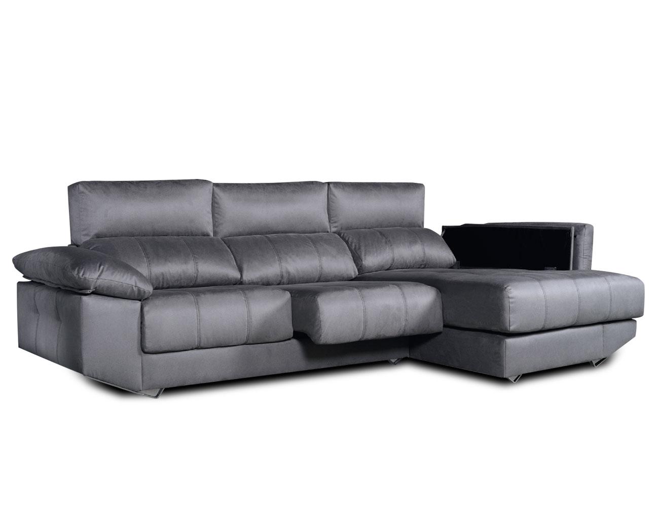 Sofa chaiselongue arcon brazo mecanico tejido anti manchas 2