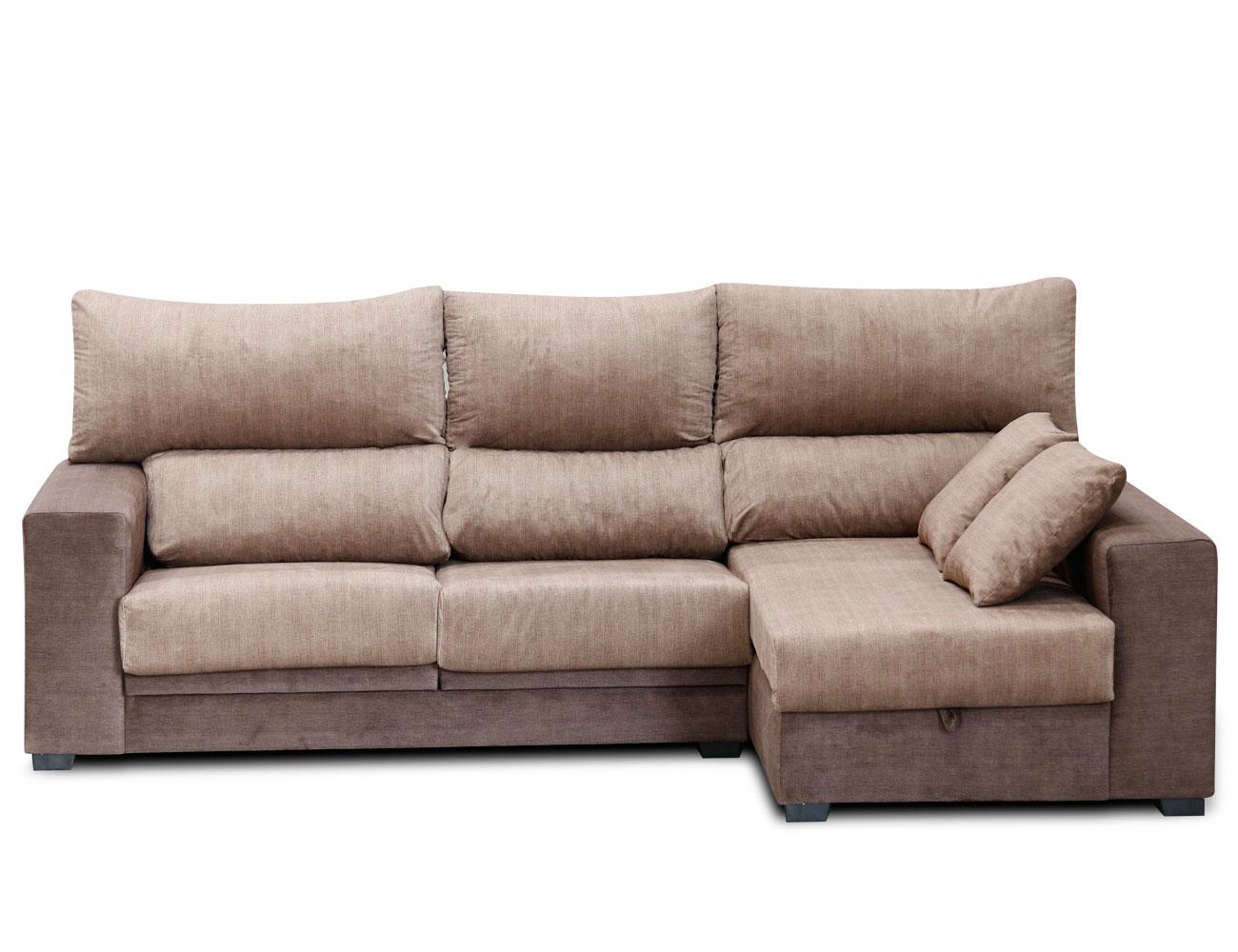Sof chaiselongue con asientos extraibles y respaldos for Sofas t dos opiniones