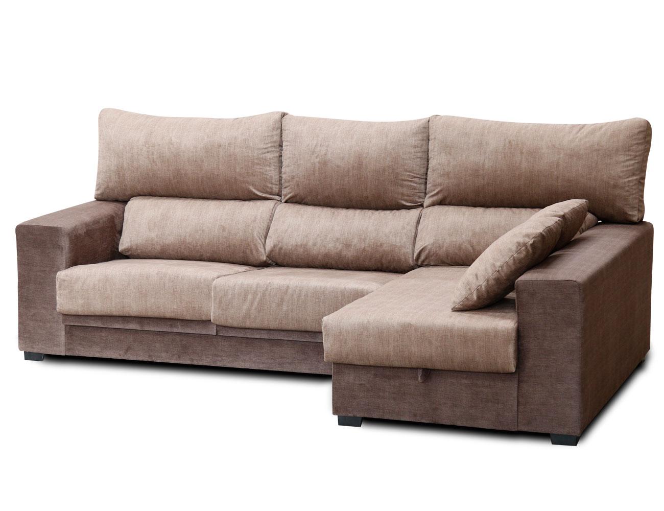Sof chaiselongue con asientos extraibles y respaldos for Sofa gran confort precios