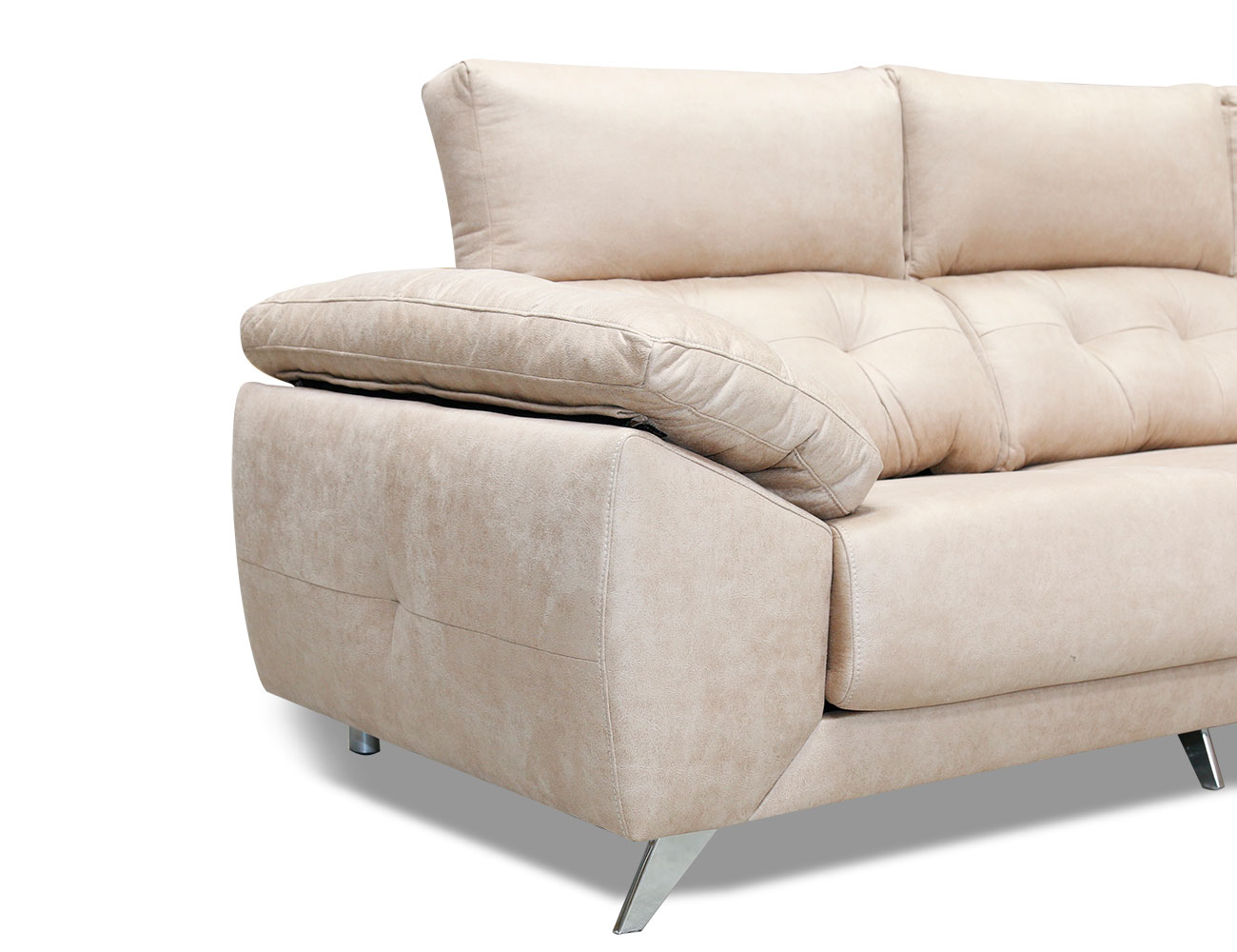 Sofa chaiselongue capitone anti machas gama alta 1