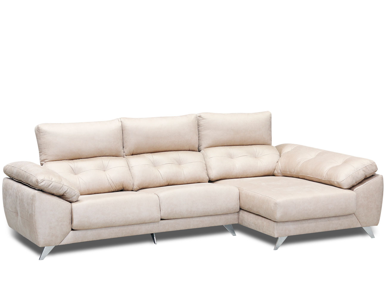 Sofa chaiselongue capitone anti machas gama alta