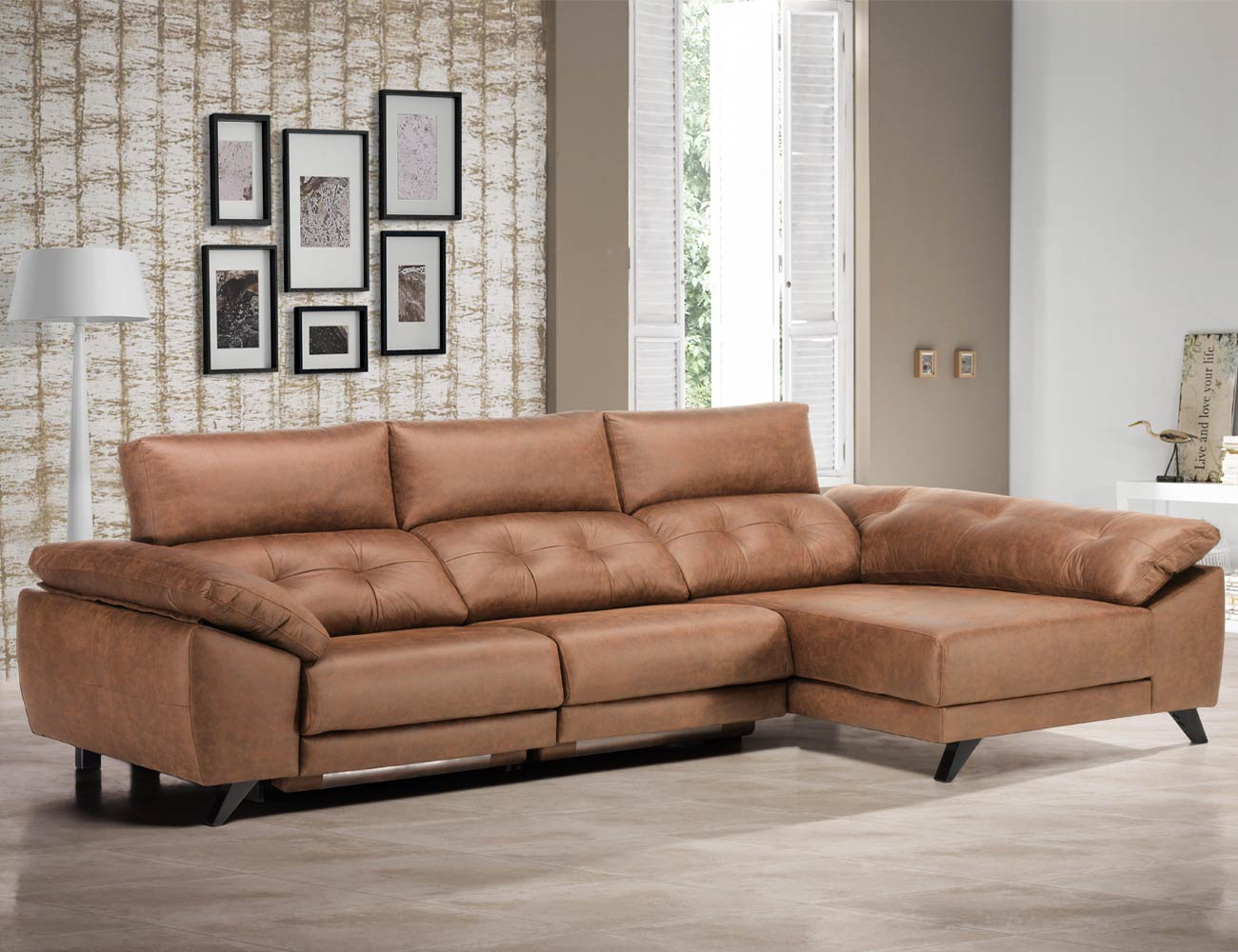 Sofa chaiselongue detalle