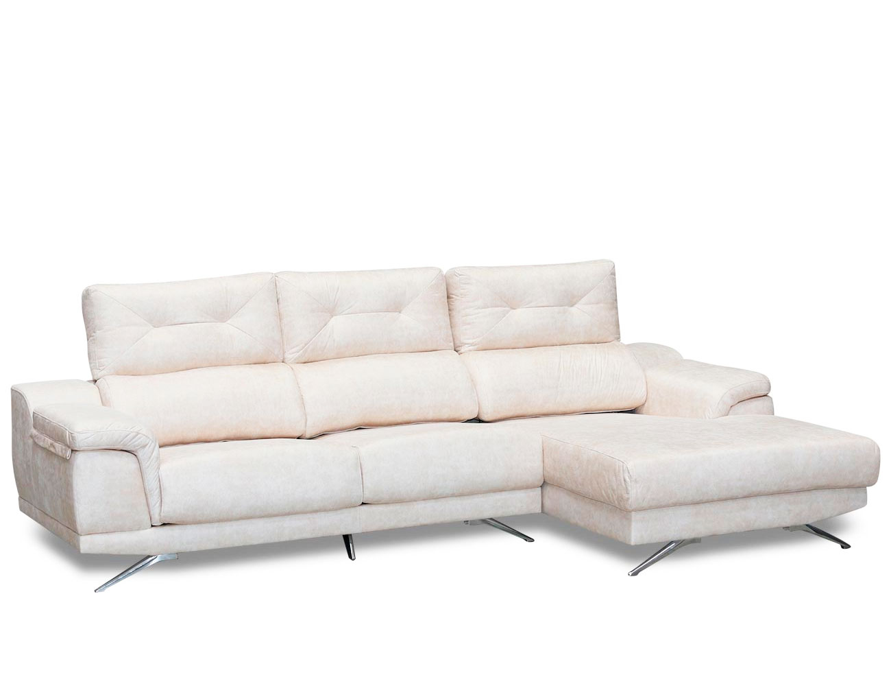 Sofa chaiselongue moderno anti manchas detalle 2