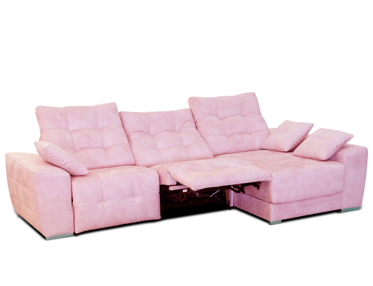 Sofa chaiselongue moderno capitone danesa pink 2