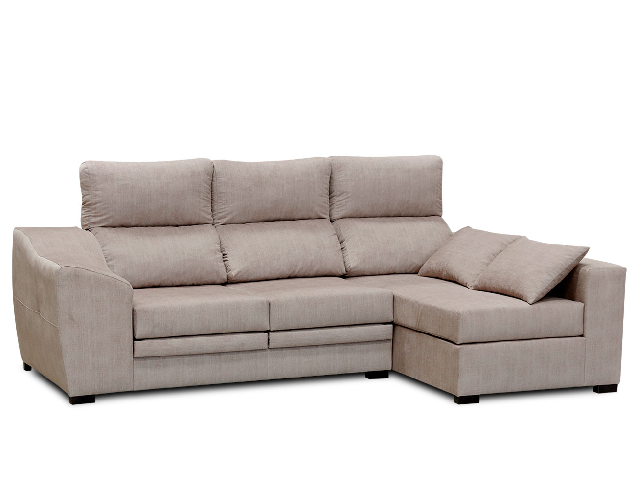 Sofa chaiselongue moderno cojin beig 1