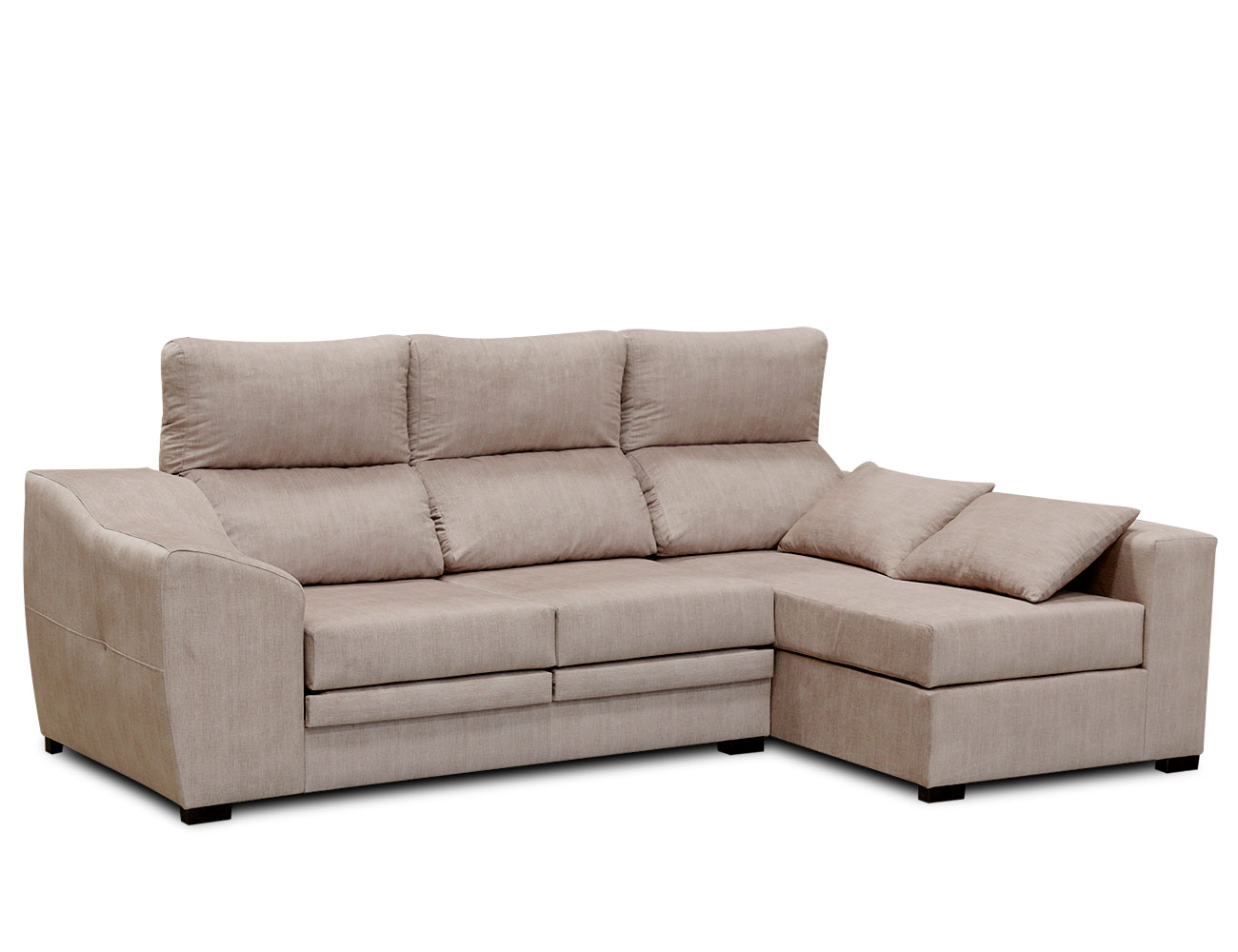 Sofa chaiselongue moderno cojin beig 2