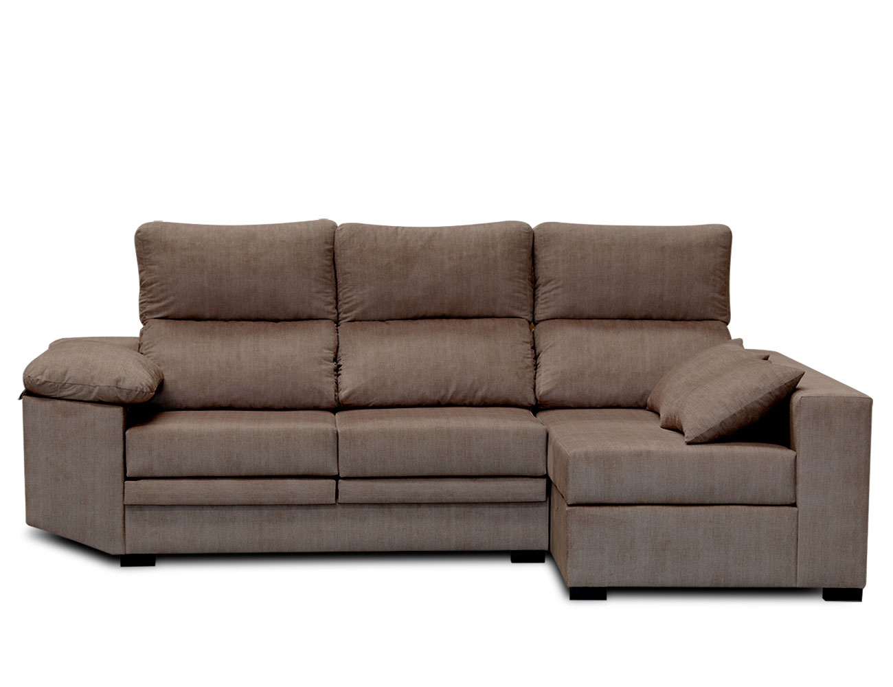 Sofa chaiselongue moderno cojines moka 1
