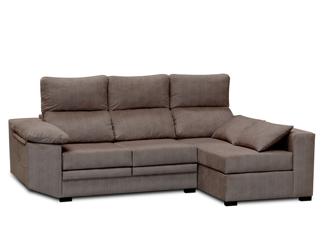 Sofa chaiselongue moderno cojines moka 3