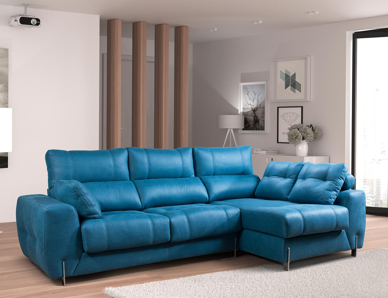 Sofa chaiselongue moderno exclusivo
