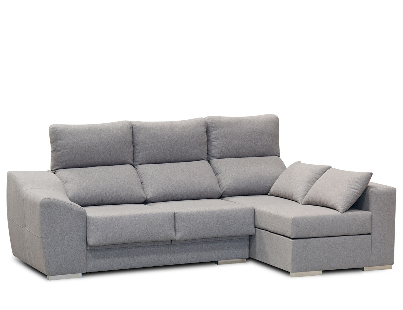 Sofa chaiselongue moderno gris 41