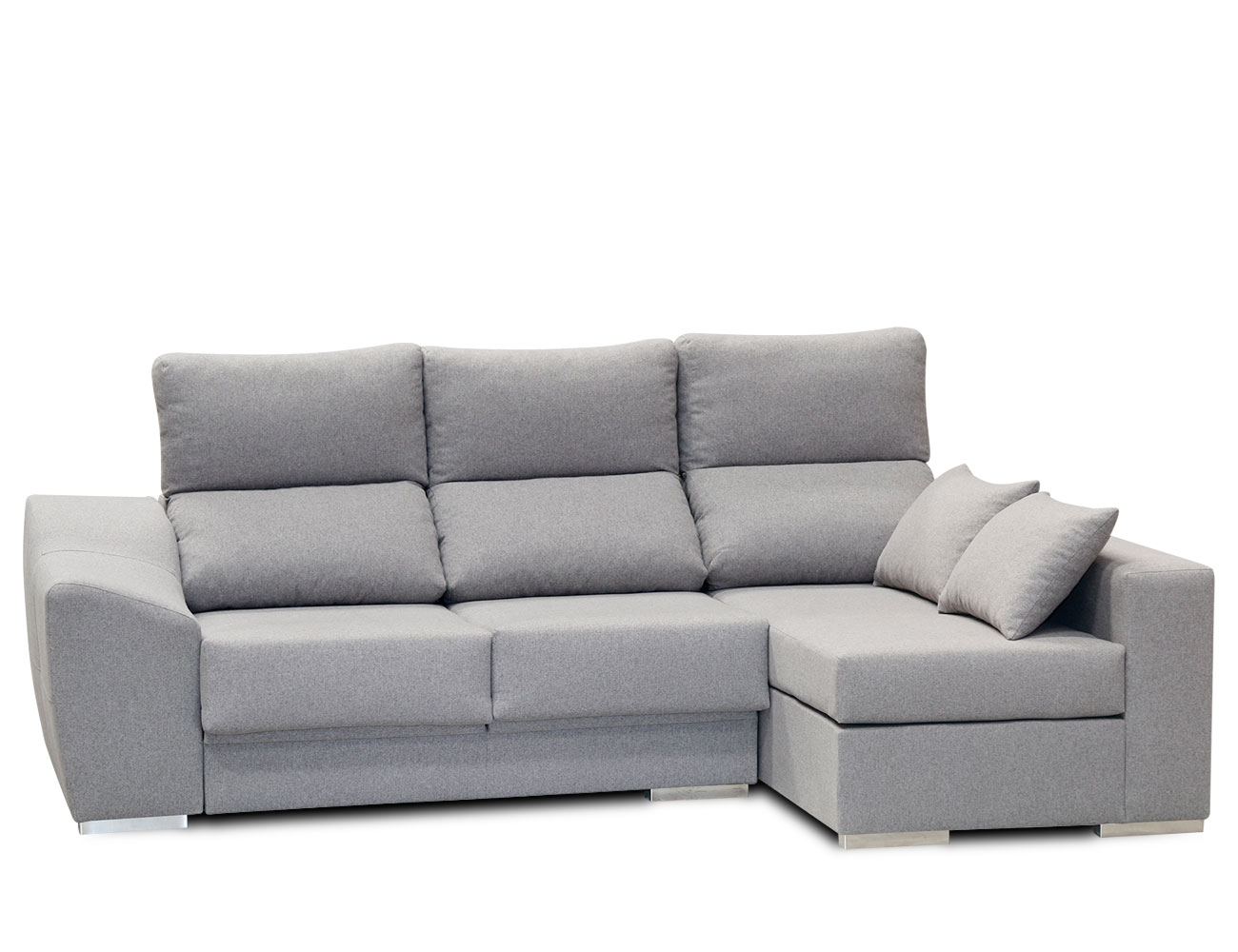 Sofa chaiselongue moderno gris 6