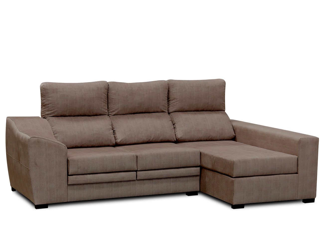 Sofa chaiselongue moderno moka 11