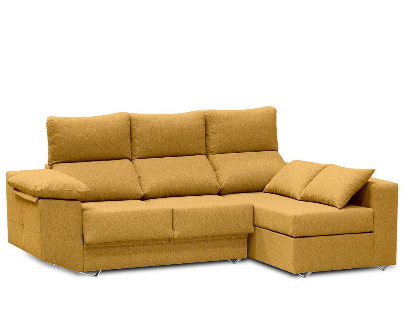 Sofa chaiselongue moderno mostaza 2