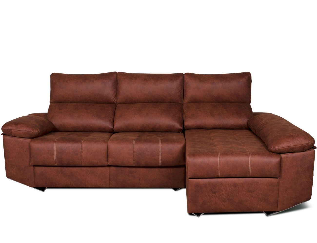 Sofa chaiselongue moderno patas forma tejido anti manchas 2
